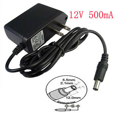 12V 500mA AC//DC Power Supply 2.1mm Connector