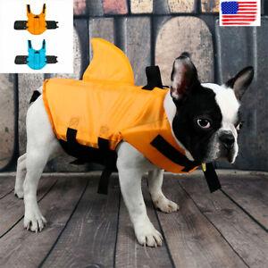 Shark Pet Safety Vest Dog Life Jacket Preserver Puppy Lifesaver Swimming XS-2XL