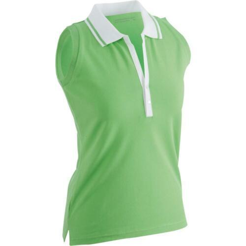 James and Nicholson Womens//Ladies Elastic Sleeveless Polo FU417