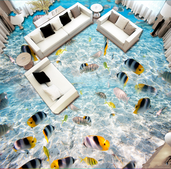 3D Fisch 624 Fototapeten Wandbild Fototapete Tapete Familie DE Lemon