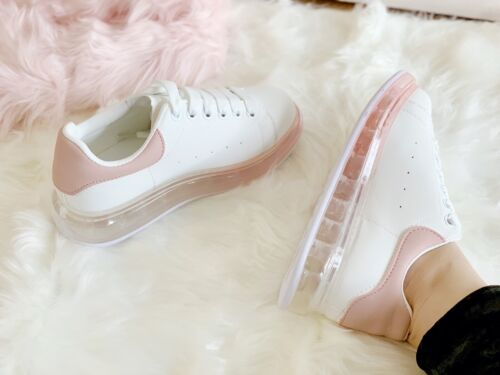 New Womens Chunky Lace Up Trainers Sports Running Comfy Ladies Shoes Sizes