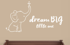 Image Is Loading Elephant And Dream Little One Wall Decals