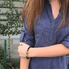 Natural Lava Stone Diffuser Bracelet 7 Chakra Healing Beaded Bracelet Jewelry