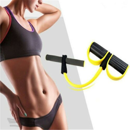 ABS Muscle Tummy Trainer Exercise Elastic Rope Tension Stretch Workout Grip New