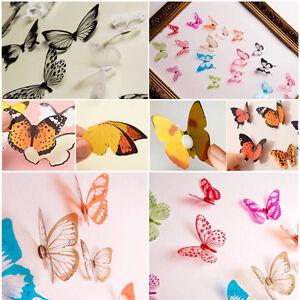 18X-3D-Mariposa-Pared-Pegatinas-Colorida-Mariposa-Decoracion-Dormitorio-infantil