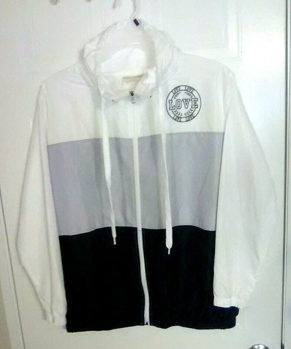 Bobbie Brooks Woman's Zip-Front Windbreaker Jacket - LOVE - Size: XL
