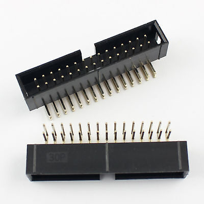 50Pcs 2.54mm 2x7 Pin 14 Pin Right Angle Male Shrouded IDC Box Header Connector