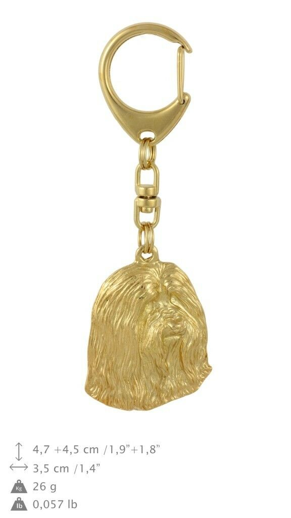 Bearded Collie - oro oro oro covered keyring with dog, high quality, keychain Art Dog f974f8