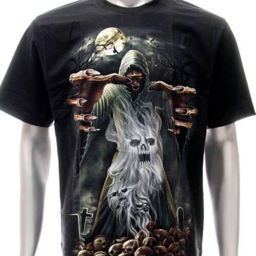 r167 Rock Eagle T-shirt Tattoo Skull Halloween Ghoul Zombie Walker Halloween Tee