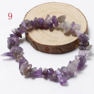 Quartz-Crystal-Wristband-Handmade-Strand-Beaded-Natural-Stone-Gravel-Bracelet