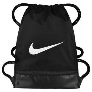 fcb029aaf97ad Das Bild wird geladen Nike-Brasilia-Gymbag-Sportbeutel-Gymsack-Turnbeutel -schwarz-BA5338-