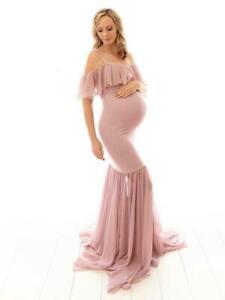 Vestiti Eleganti Gravidanza.Elegante Vestito Abito Premaman Gravidanza Rosa Lungo Evento