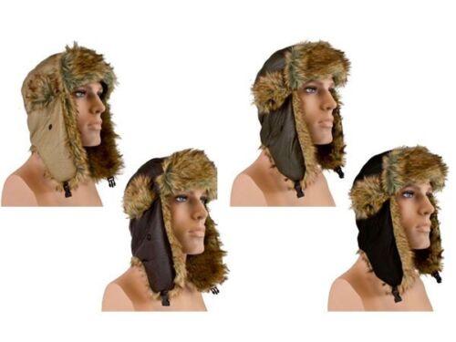 Winter-Mütze Herbst-Mütze T-Schapka Flieger-Mütze Trapper-Mütze Tibet NEU