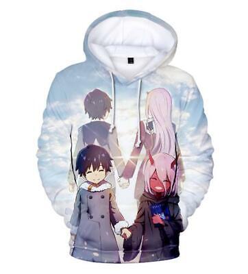 Ehrlichkeit Darling In The Franxx Anime Kapuzen Sweatshirt T-shirt Hoodie Pullover Pulli Ungleiche Leistung