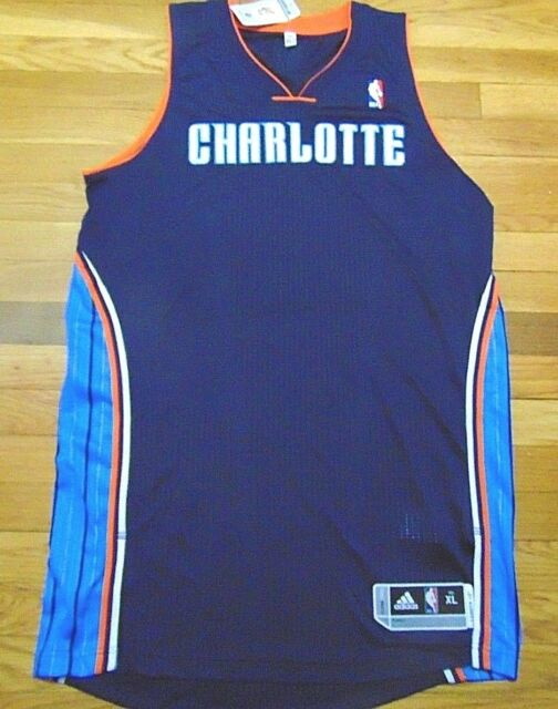 3305beba6f9d ADIDAS NBA REVOLUTION 30 CHARLOTTE BOBCATS BLUE AUTHENTIC BLANK JERSEY XL+2