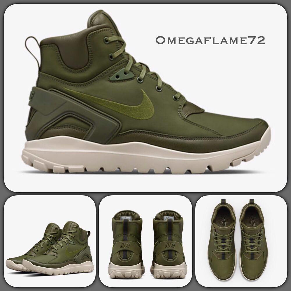 Nike Stone Island Koth Ultra Mid 834912-332 Rough Green UK 8 EU 42.5 US 9-