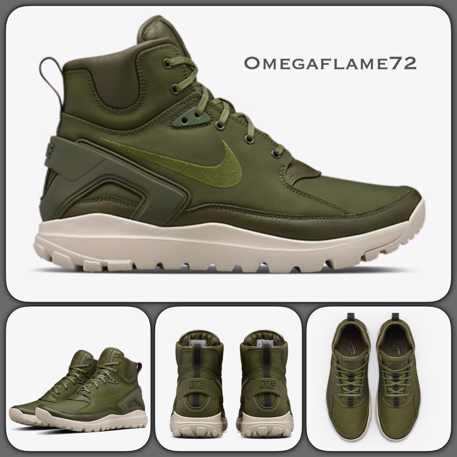 Nike Stone Island Koth Ultra Mid 834912-332 Rough green UK UK UK 13 EU 48.5 US 14 e6aa47