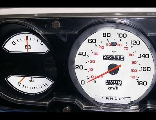 1981-1989 Dodge Ram 180 KMH METRIC KPH Dash Instrument Cluster White Face Gauges