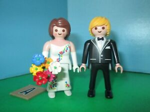 Groom new condition wedding Playmobil bride with bouquet