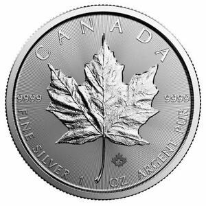 Kanada 5 Dollar 2018 Maple Leaf 1 Oz Silber Münze Stempelglanz St Ebay