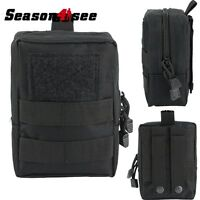 Tactical Airsoft Molle Multifunctional Tool Pouch Accessary Carrier Bag Black