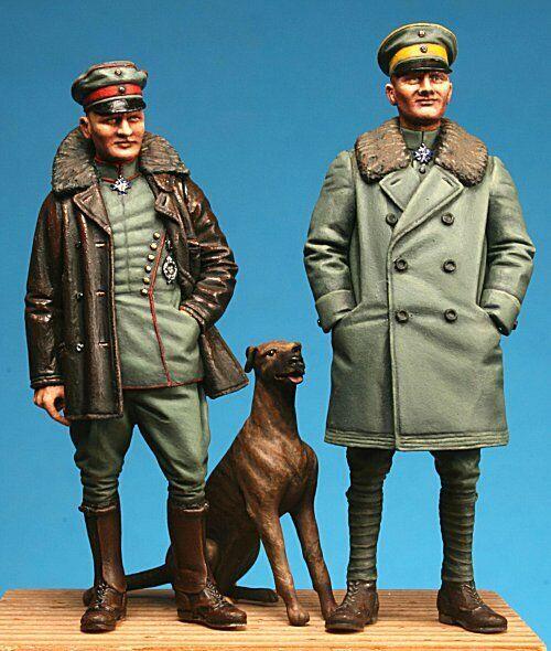 Manfred & Lothar von Richthofen (with Moritz), Resin 1 32, Model Cellar MC32006