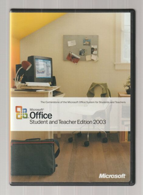 MICROSOFT OFFICE Student and Teacher Edition 2003 Home PC Software