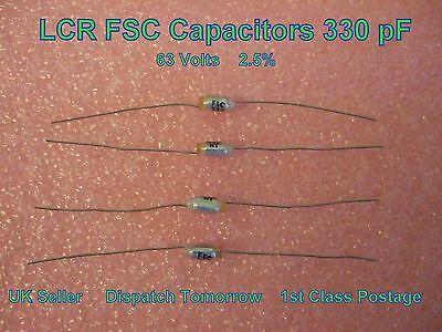LCR FSC 330pF 2.5/% 63 V Polystyrène Condensateurs Lot de 4