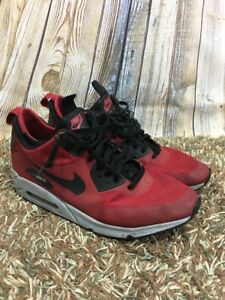 a280e79f1d Nike Air Max 90 Mid Winter Gym Red Black Wolf Grey Sneakerboot Mens ...