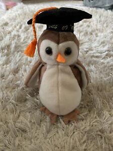 TY Beanie Babies WISE Class 1998 Graduation Gift OWL Anniversary Class Reunion