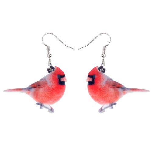Acrylique Northern Cardinal Oiseau Boucles d/'oreilles Dangle Drop Fashion Jewelry for Women