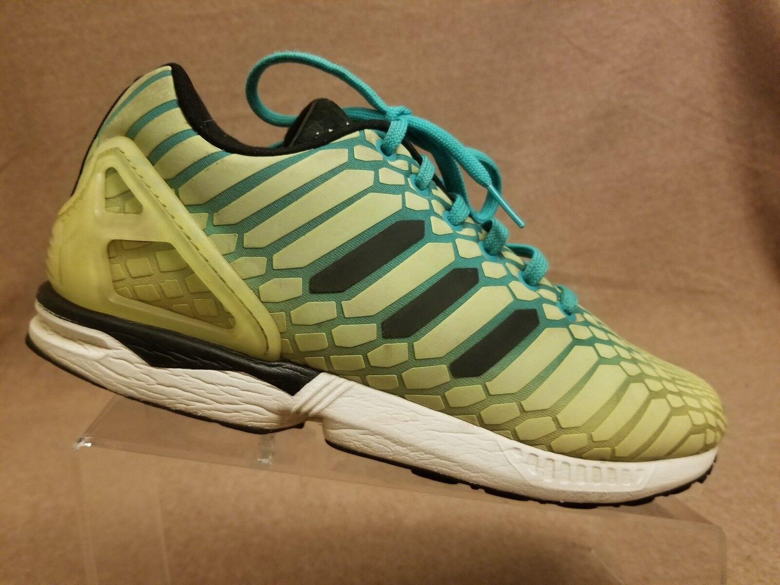 Adidas Flux AQ8212 ZX Flux Adidas XENO Reflective Glow Running Shoes Green Yellow Men Sz 8.5 0a18a4