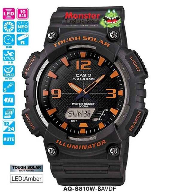 CASIO WATCH TOUGH SOLAR AQ-S810W-8AV AQS810 AQS810W 12-MONTH WARANTY