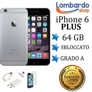 APPLE-IPHONE-6-PLUS-64GB-GRADO-A-NERO-GREY-RIGENERATO-RICONDIZIONATO-USATO
