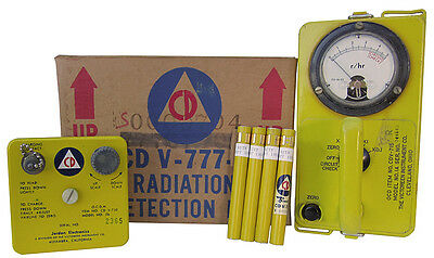 Authentic 1960 Era Civil Defense CDV 777 Radiation Detection Kit, Geiger Counter