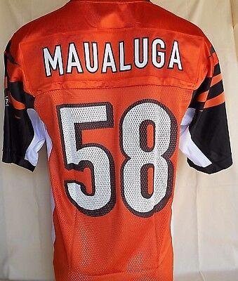 Reebok Cincinnati Bengals Rey Maualuga Men's Screenprinted Jersey Size Small | eBay