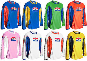 Jt racing pro Tour Motocross MX Maglia Retro Evo Enduro Moto Shirt Top Nuovo