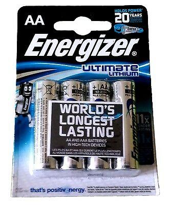 Fornitura 4x Ultimate Litio Aa Blister 1,5v Ultimate Litio Aa Energizer-