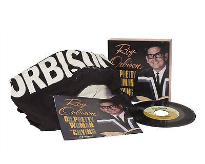 "Roy Orbison Threads + Grooves Pretty Woman Crying 7"" Single Vinyl T-Shirt - NEW"