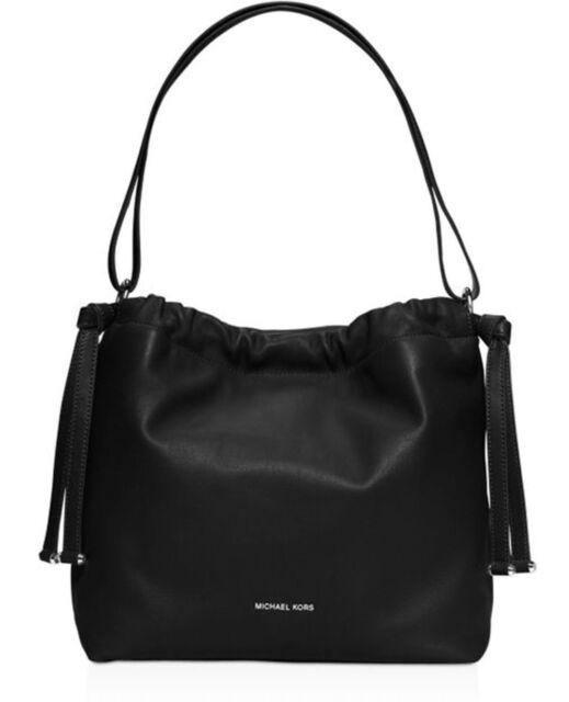 Michael Kors Angelina Large Conv Black Shoulder Bag 30s6saql3l