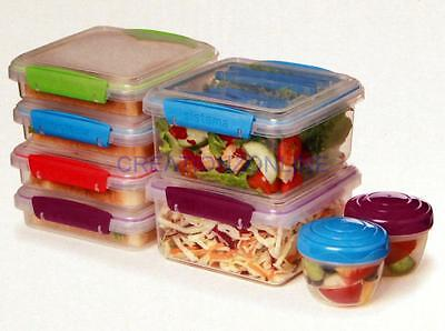 Sistema Klip It To Go 17 Pc Pack Food Storage Containers Lunch Box Sandwich Set