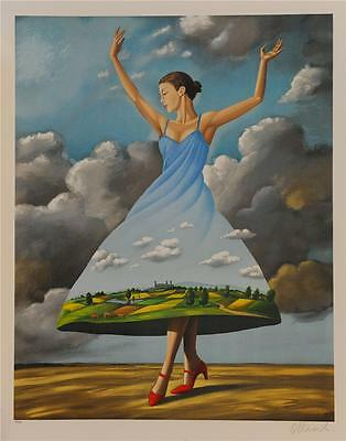 Rafal Olbinski Texture of Casual Desire Signed Hand Pulled Lithograph Ltd Ed