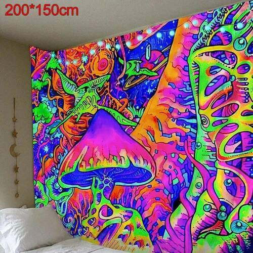 3D Psychedelic Scene Hippie Trippy Tapestry Wall Hanging Blanket Home Room Decor