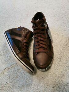 Geox Shoes   Respira Brown Sneakers   Poshmark