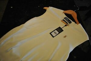 Men-039-s-Polo-Ralph-Lauren-Off-White-with-Brown-Pony-Pima-Cotton-Sweater-Vest-S-NWT