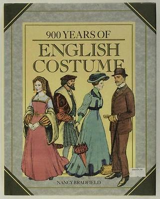 HB Book Textile Art 900 YEARS OF ENGLISH COSTUME by Nancy Bradfield