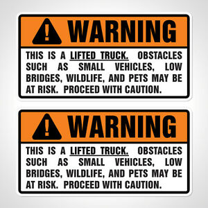 lifted trucks stickers