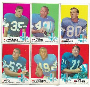 1969-Topps-Detroit-Lions-Team-Set-with-Alex-Karras