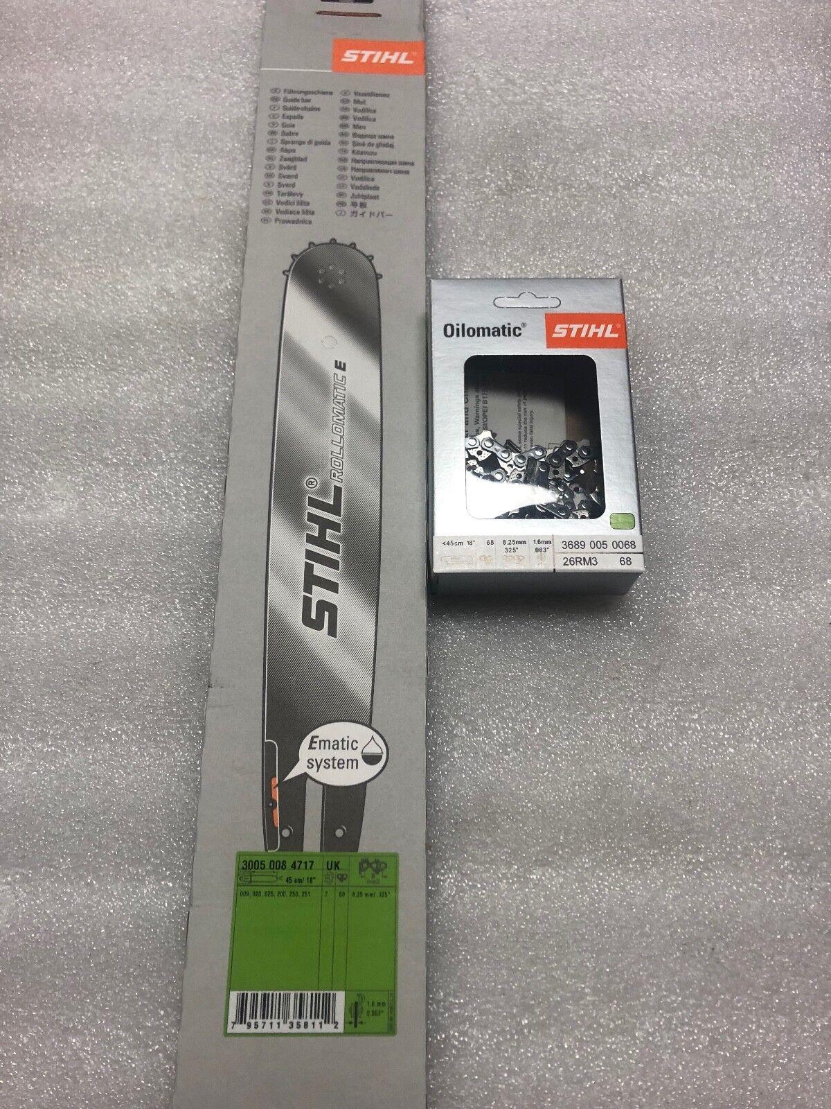Original Equipment Manufacturer STIHL de 18  Bar y 18  cadena .325 .063 ms250 ms251 025