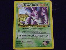 Pokemon Card Giovanni's Nidoking 7/132 Gym Challenge Set Unlimited Holo Rare NM